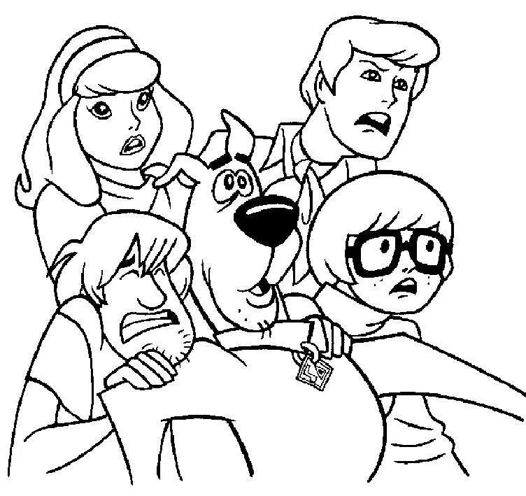 Nice Scooby Doo Halloween Coloring Pages Paginas Para Colorir Da