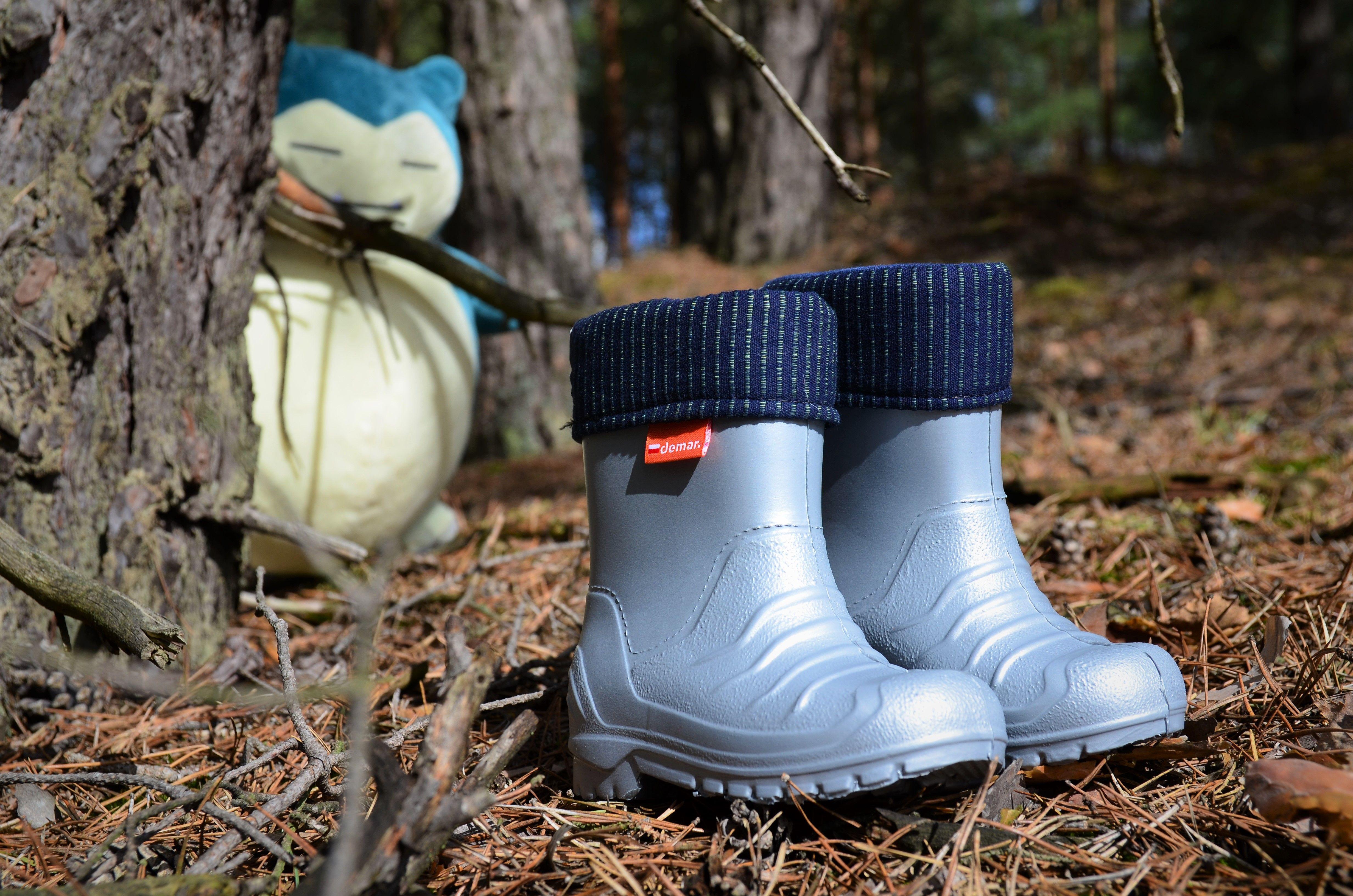 Kalosze Piankowe Dla Dzieci Szare Lekkie Pianka Demar Dino H Boots Wellington Boot Rain Boots