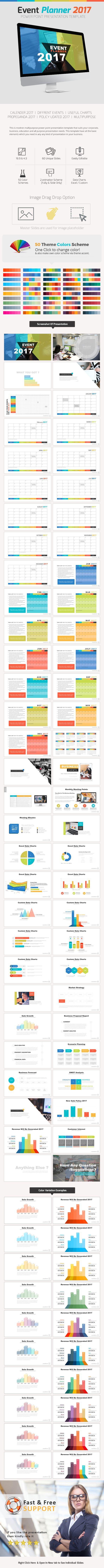 event planner 2017 presentation | powerpoint presentation, Presentation templates