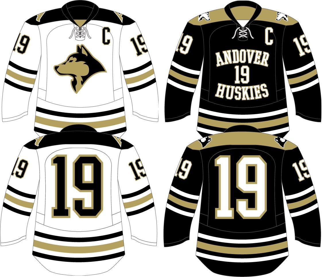 The Ladies Over At Andover Hs Showing Some Pride This Year Customdesign Hockeyjersey Jersey Design Custom Hockey Jerseys Hockey Jersey