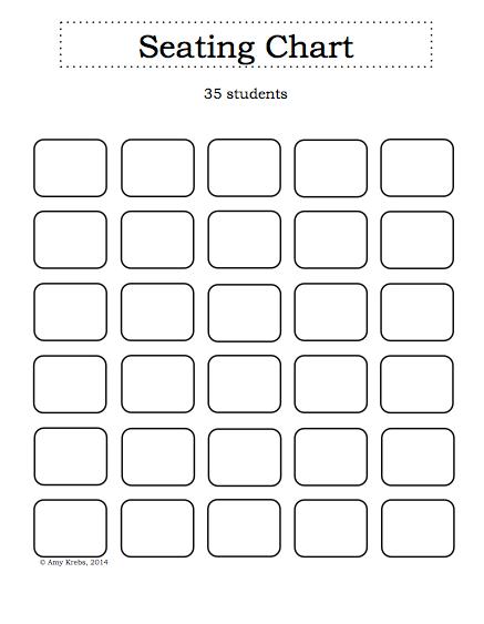 Blank Classroom Seating Chart