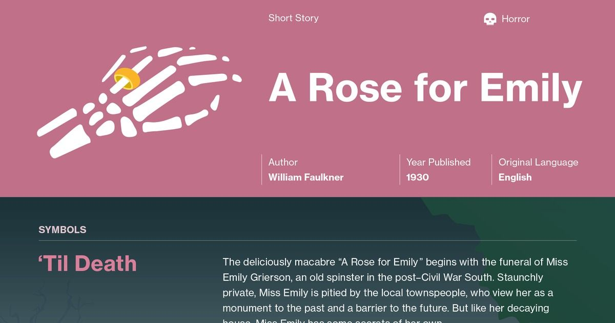 Thesis for a rose for emily