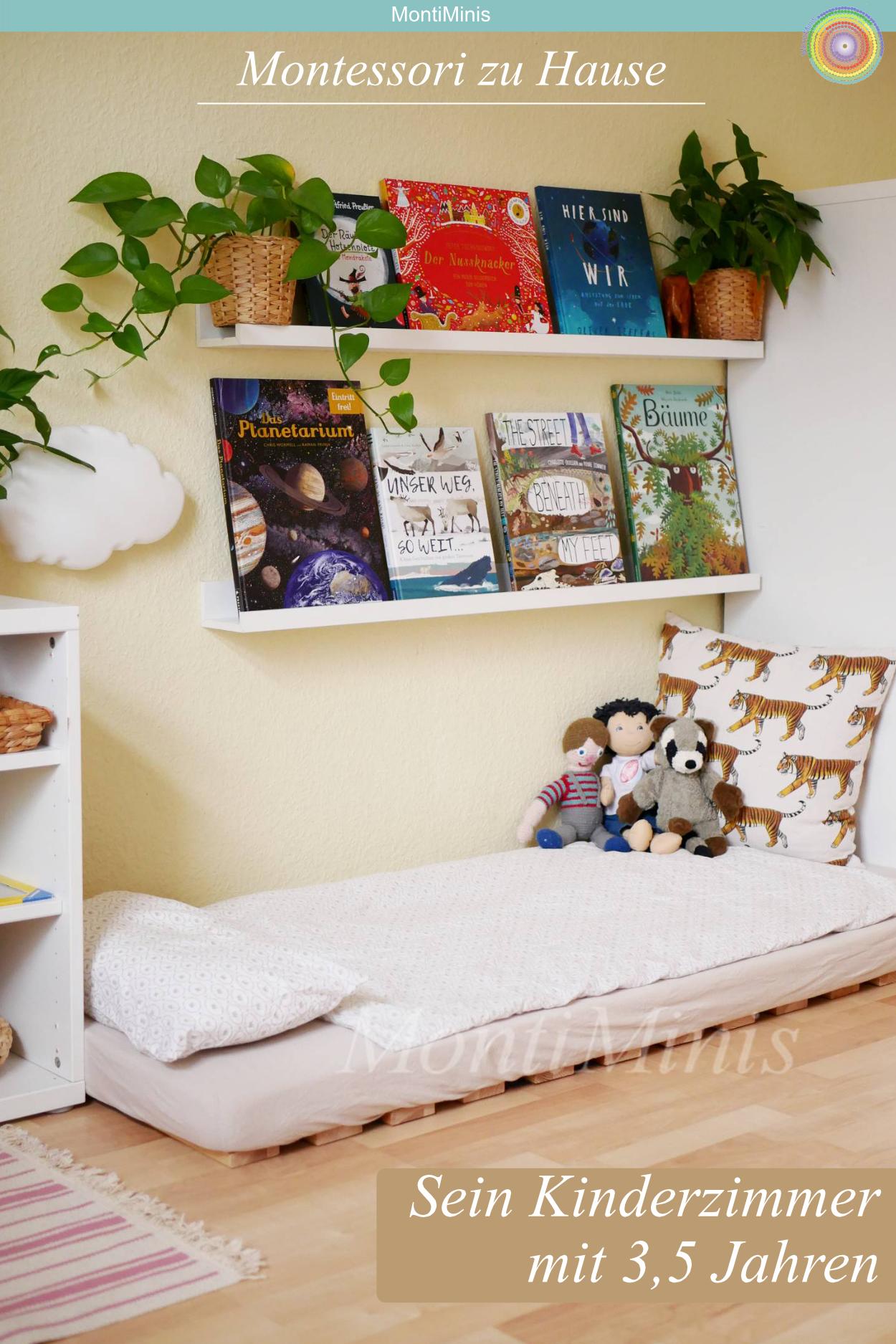 Sein MontessoriKinderzimmer im Alter von 3,5 Jahren in