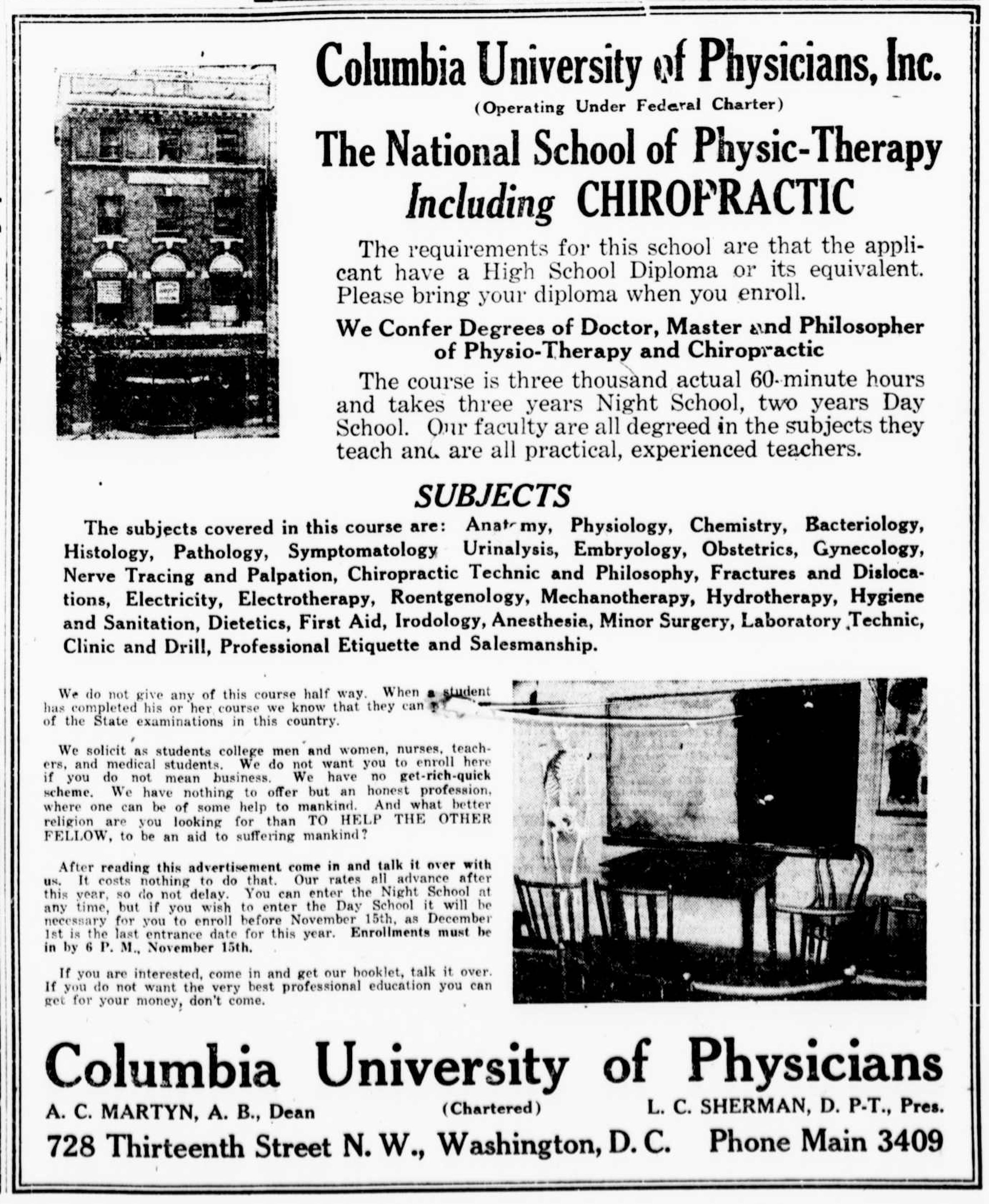 1922 PT school ad clip | Physical Therapist Assistant | Pinterest ...