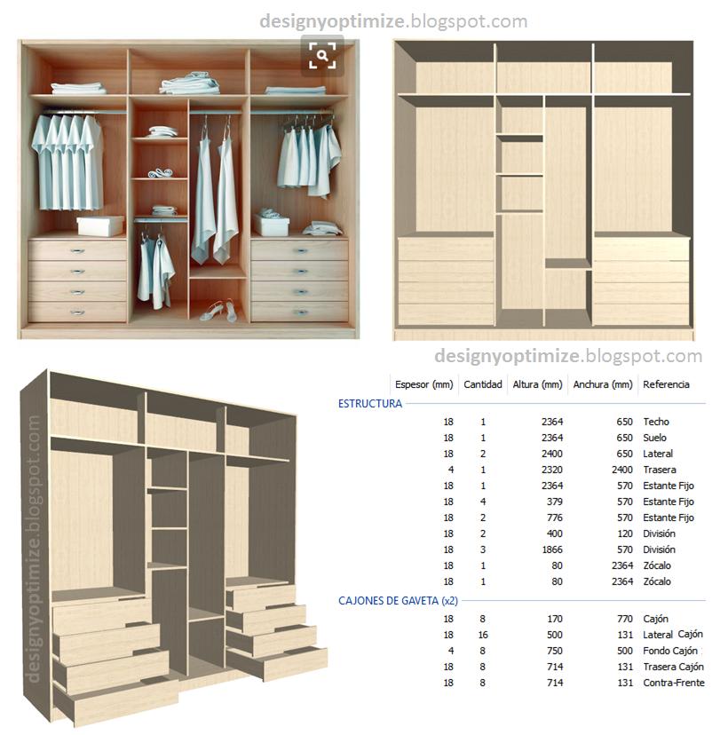 Diseño De Muebles Madera: Fabricando Closet Sin Puertas Tipo Vestier ...