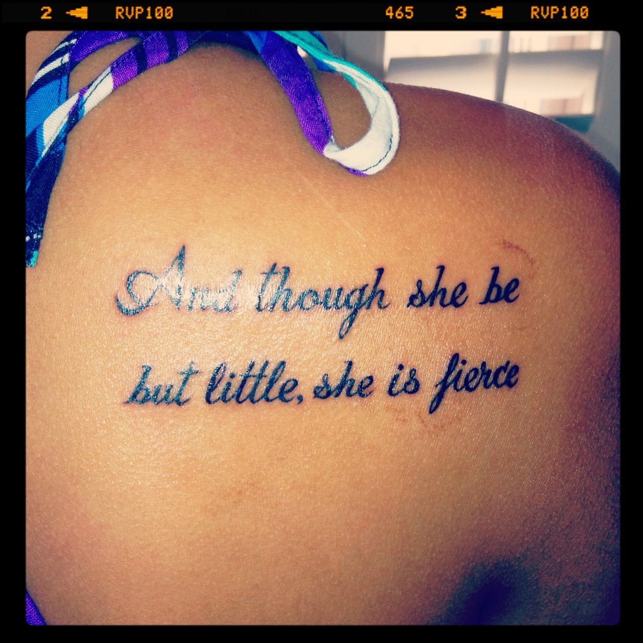 My new tattoo and though she be but little she is for Though she be little she is fierce tattoo