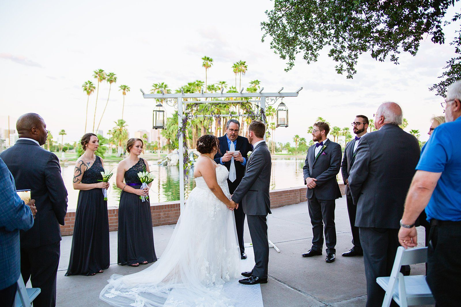 Encanto Park Wedding Phoenix Arizona Photographer Intimate Outdoor Small Diy