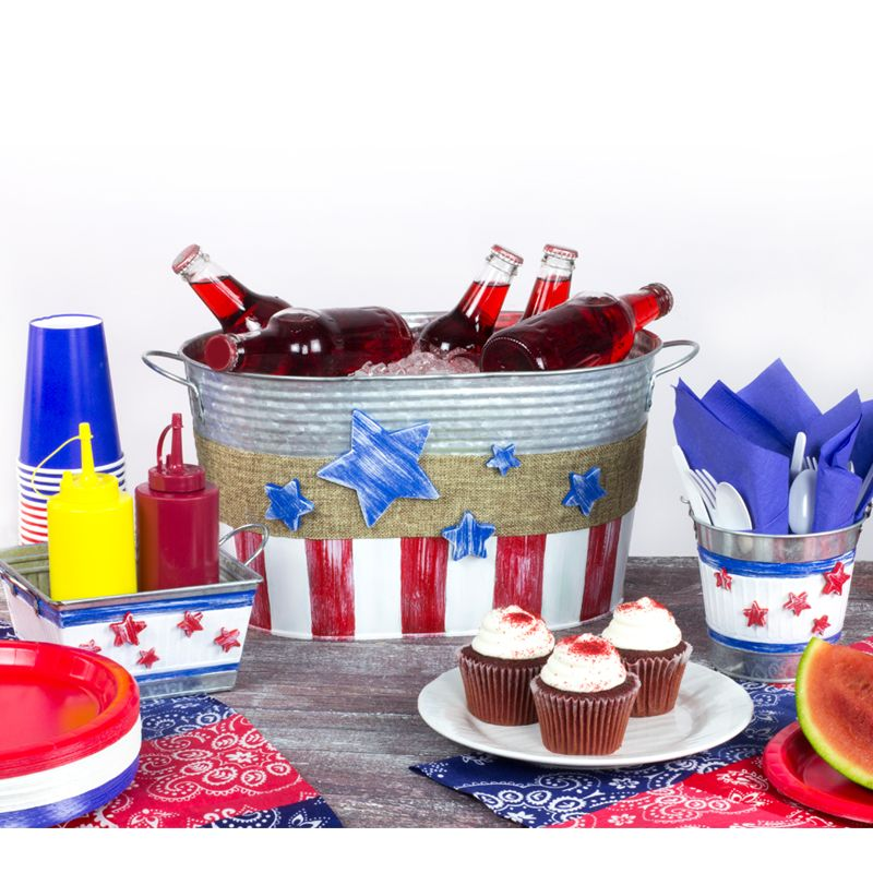 How To Make Patriotic Stars & Stripes Picnic Set Tutorial
