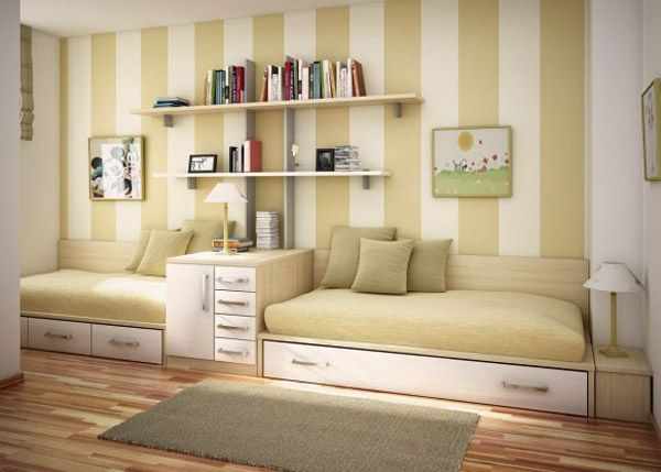 like the paint stripes on the wall. decorate bunk beds | Room ...