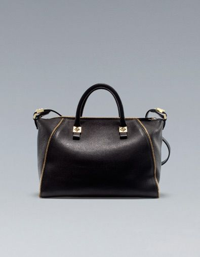 Bowling Bag With Zips Zara