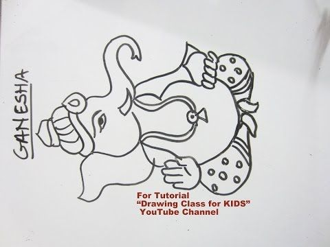 How To Draw Lord Ganesha Ganpati Drawing Search Drawing Class For