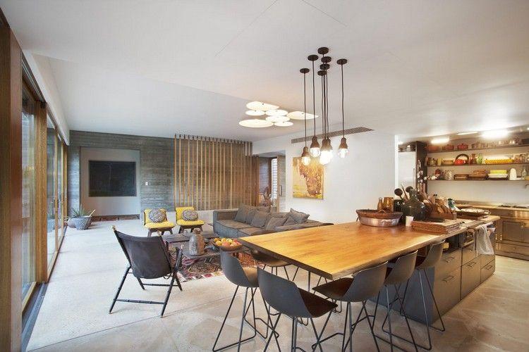 Essbereich Küche Wohnzimmer Kombinieren Modernes Wohnkonzept #traumhäuser  #home #interiordesign #arhitecture