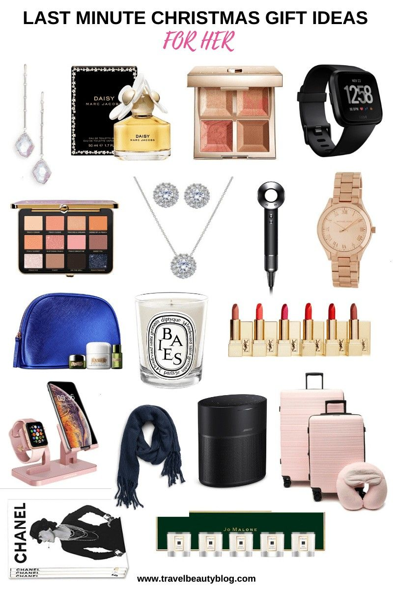 Minute Christmas Gift Ideas For Her. This is a gift guide for women filled with gift ideas that can