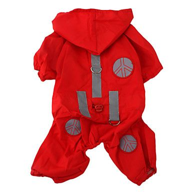 Waterproof Raincoat with Hat for Dogs (XSXL, Red) Cheap