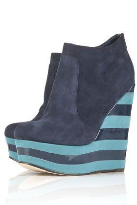 Stripe Wedge Boot