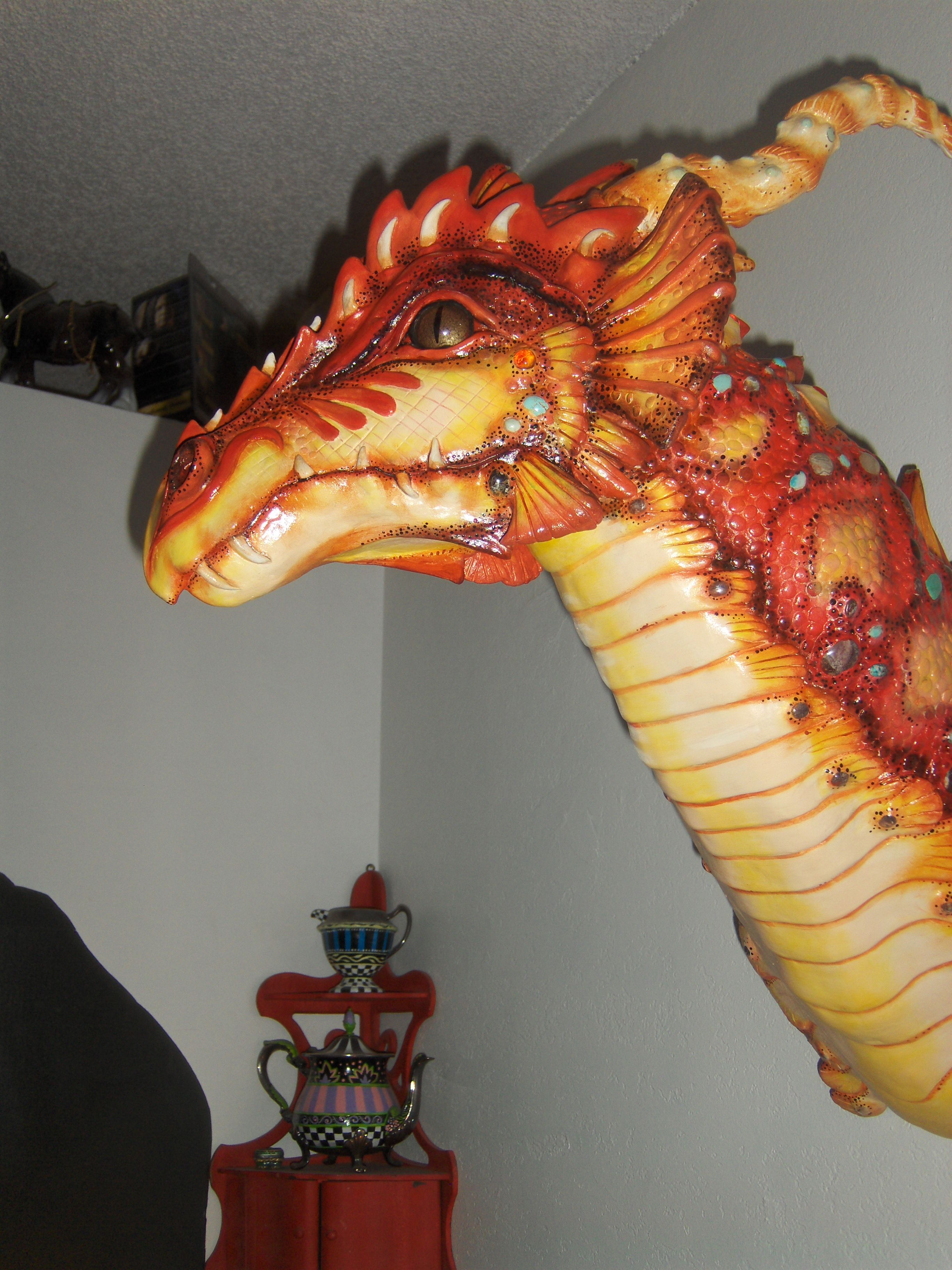 This is one of my air dry clay dragons. Air dry clay