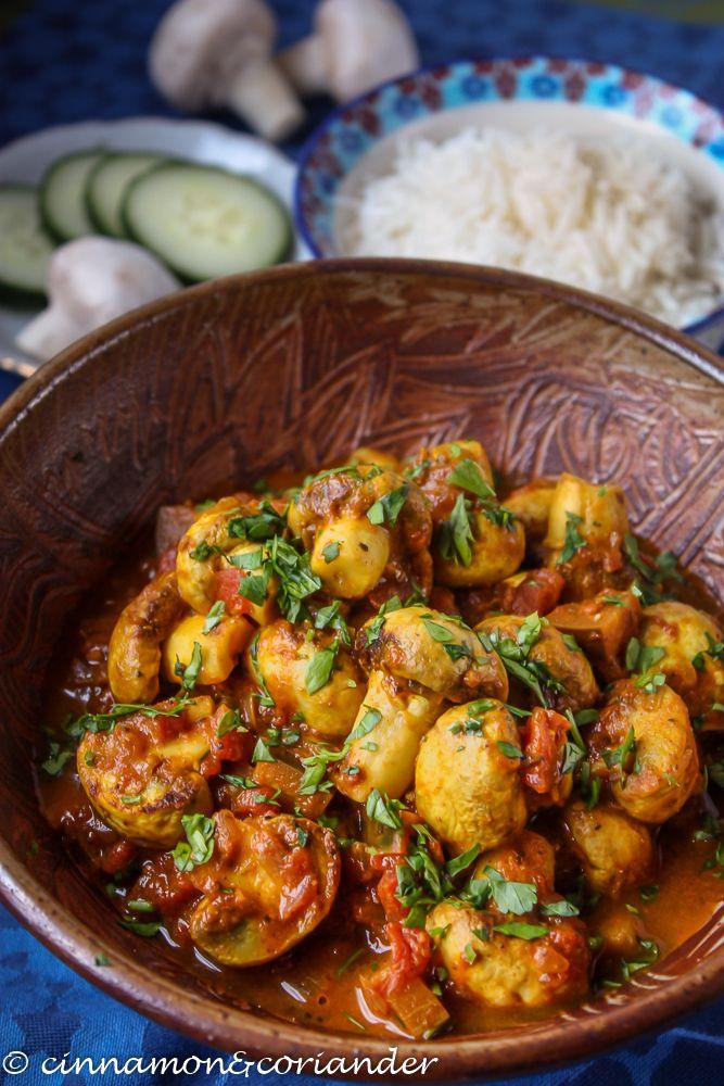 Dieses würzige Tikka Masala mit Pilzen ist eine herrliche vegetarische Variante des indischen Klassikers Chicken Tikka Masala