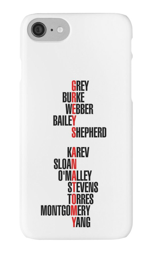 info for 9901c 52504 Grey's Anatomy Early Cast Names (black) by shadoboxer | Wishlist ...