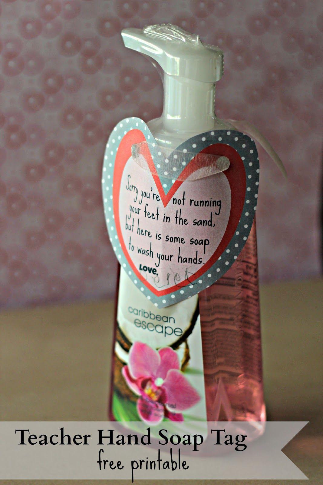 Four Marrs And One Venus Teacher Hand Soap Tag Free Printable