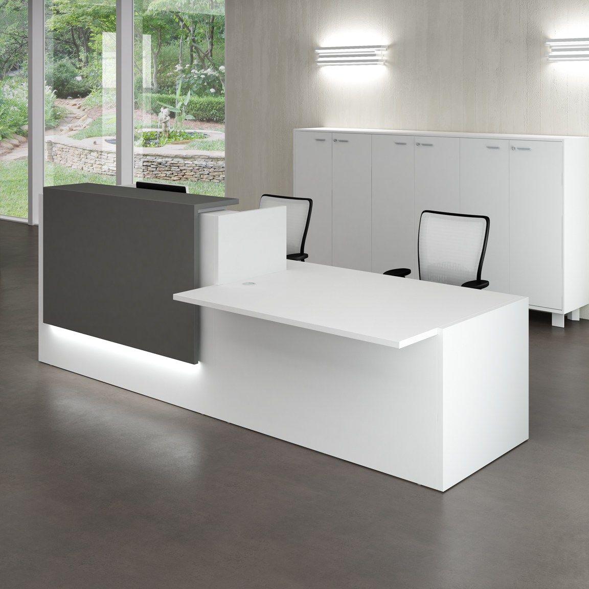 Mostrador para recepci n modular z2 quadrifoglio sistemi for Mobiliario modular para oficina