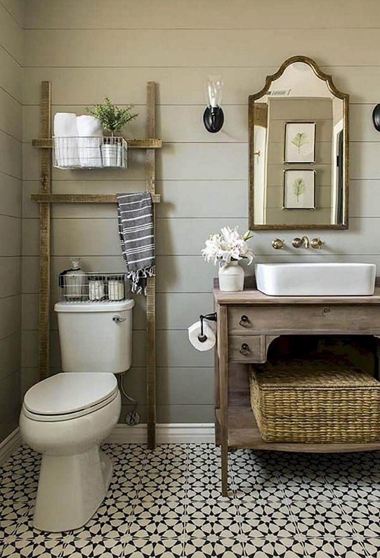 79 easy and modern farmhouse bathroom decor ideas