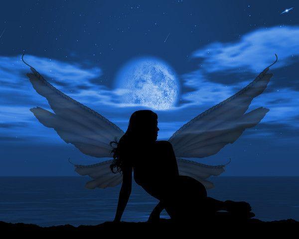 Full Moon Fairy Wallpaper Fairies Photos Moon Fairy