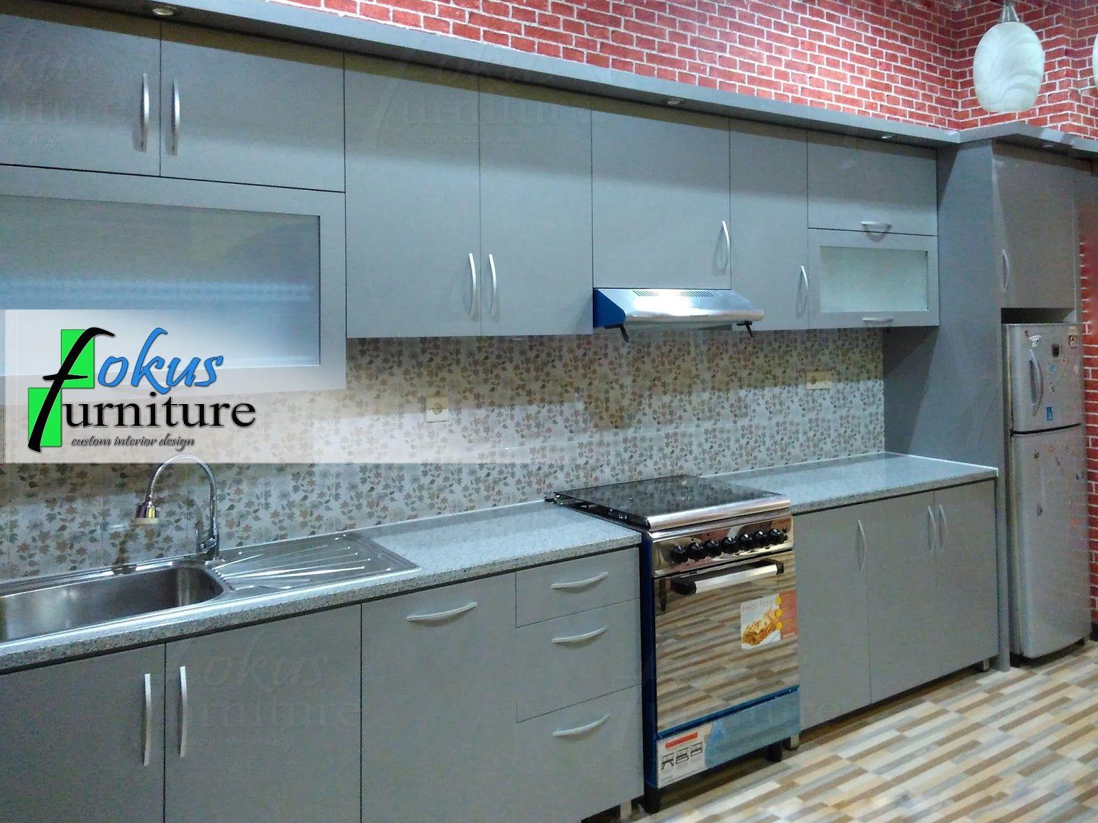 Kitchen set tanpa handle | Fokusfurniture.com kitchen set,lemari ...