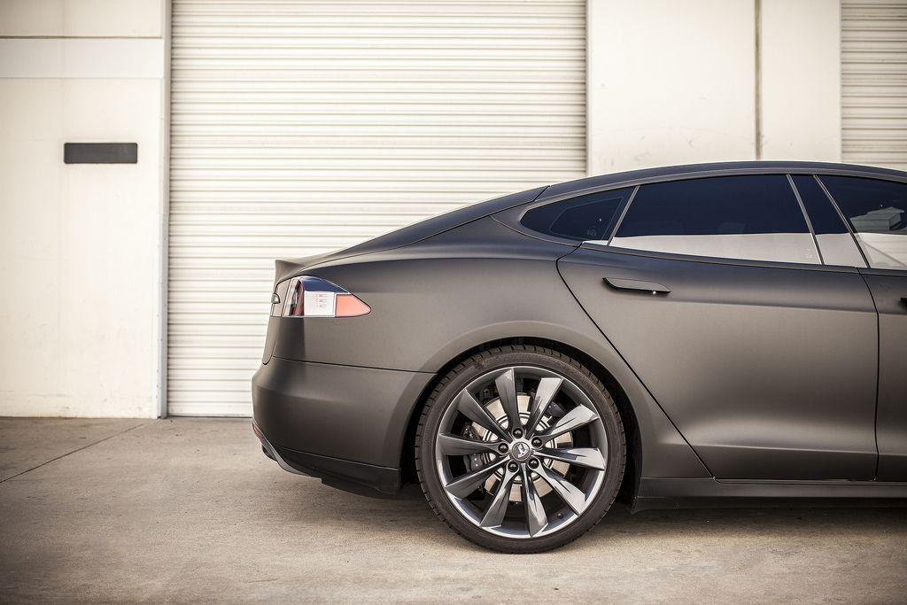 2013 Tesla model S matte black For more, check out: www.evannex ...
