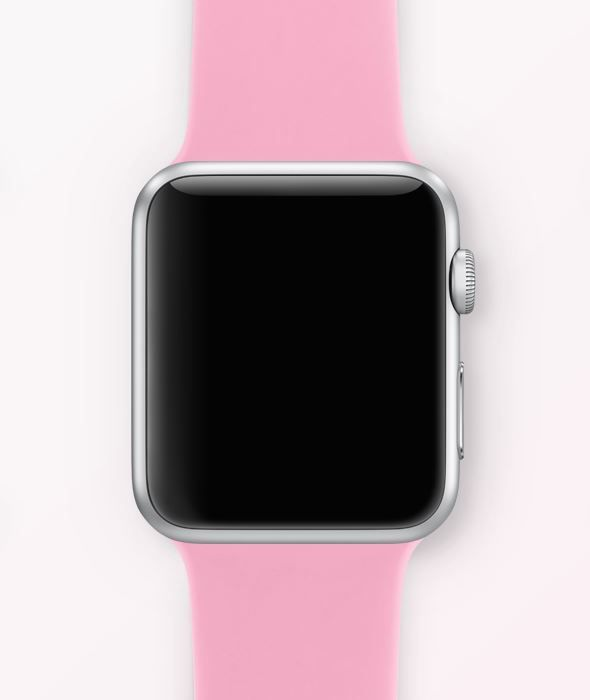 Apple Watch Silver Aluminum Case Light Pink Band Sport Band By Apple Apple Watch Accessories Apple Watch Phone Apple Watch