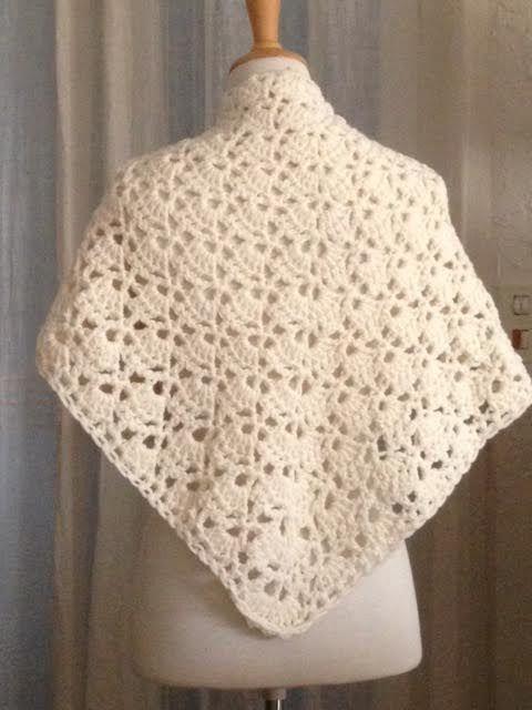 f5ea723bbed2 le grand châle au crochet en grosse laine chaude et mousseuse   Echarpe,  foulard, cravate par danetgeo