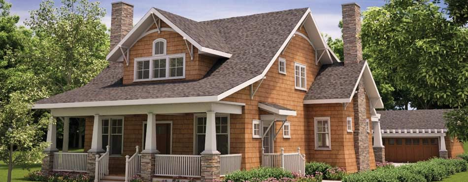 Home of idesign home plans cottage craftsman bungalow for Custom craftsman house plans
