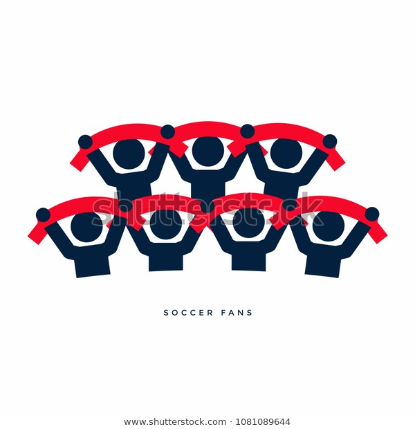 Soccer Fans Scarves Vector Stock Vector Royalty Free 1081089644