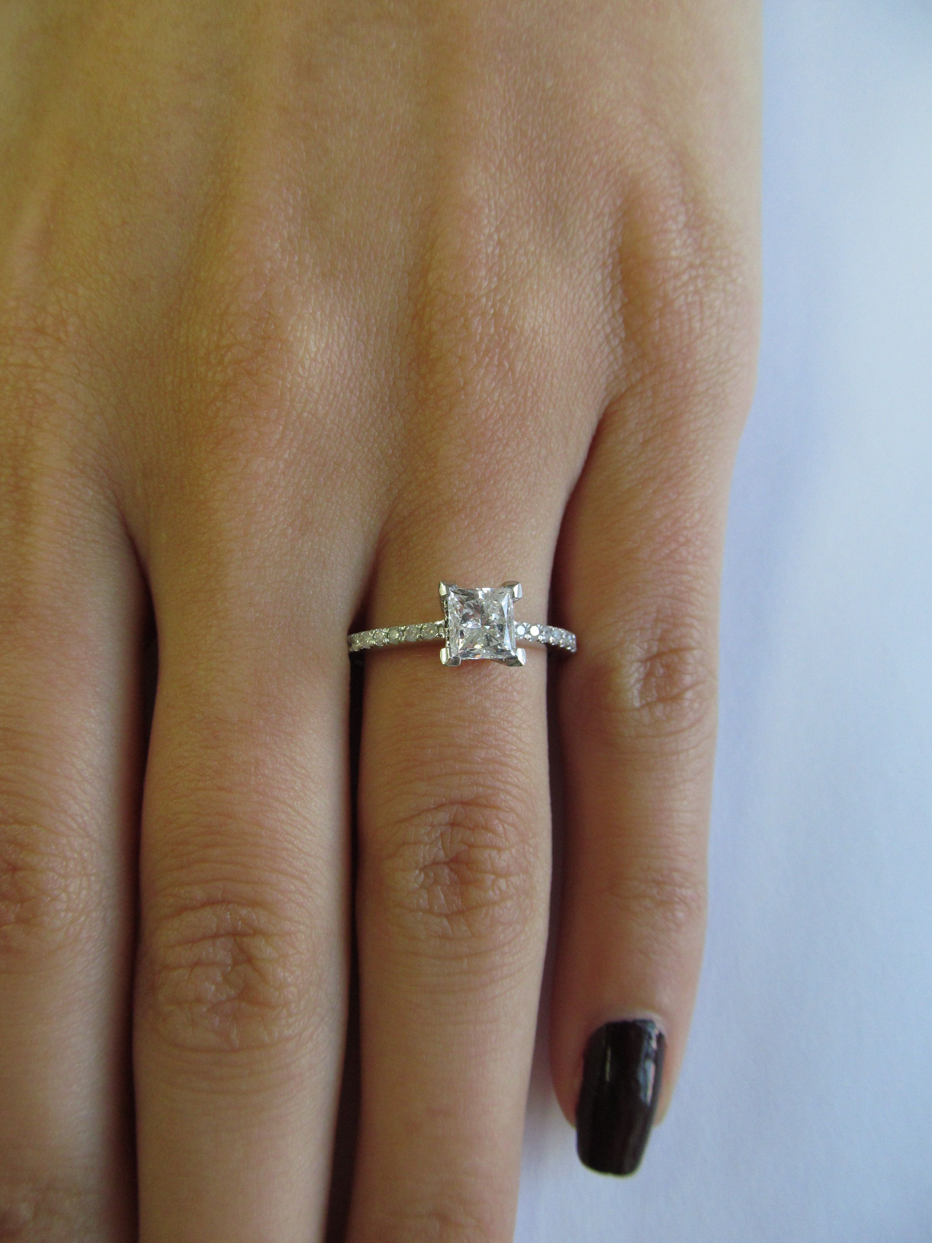 band engagement wedding ideas with ring weddingbee platinum a regard to halo for thin bands