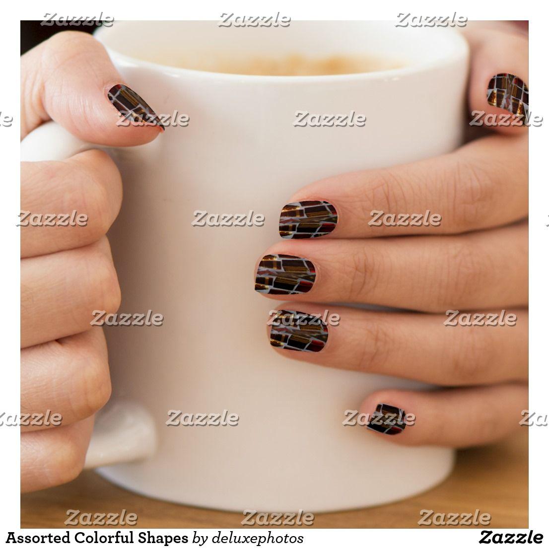 Assorted Colorful Shapes Minx Nail Art | Minx nails
