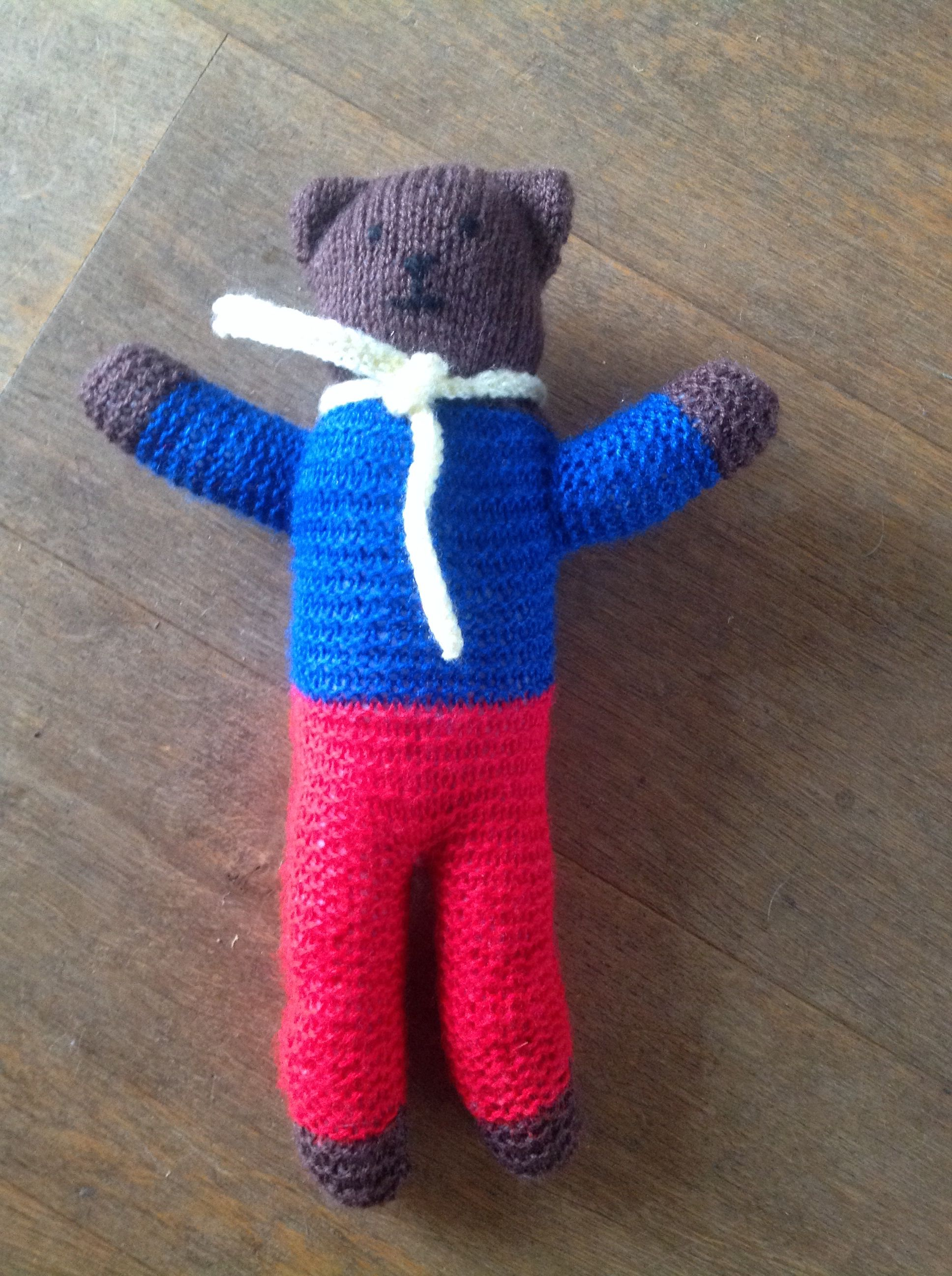 Teddy knitted using the teddies for tragedies knitting pattern for ...