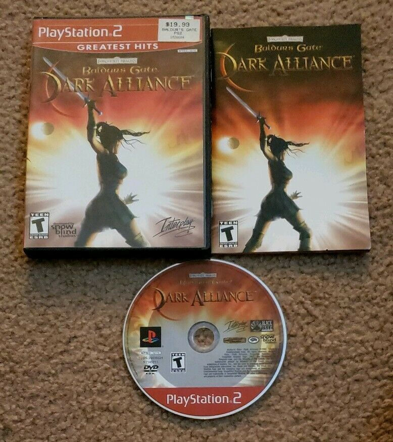 Baldur S Gate Dark Alliance Complete In Case W Manual Playstation