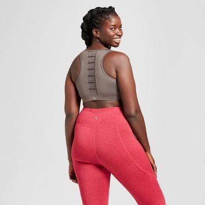cf5abf75651 Women s Plus Size High Neck Comfort Lattice Back Sports Bra - JoyLab Eiffel  Tower Gray Solid