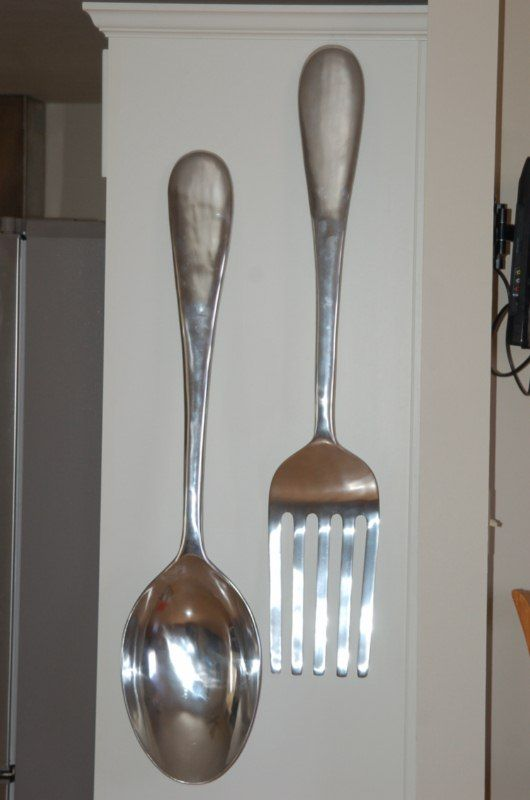 Giant Fork And Spoon For The Kitchen Well It Would Be A Conversation Starter That S Sure
