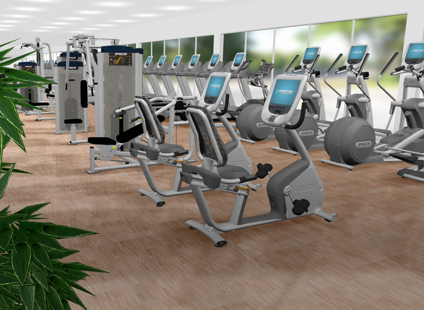 3D Designs of your Fitness Room before you buy! Commercial Fitness Solutions by Leisure Fitness! #mybodyismytemple #leisurefitness