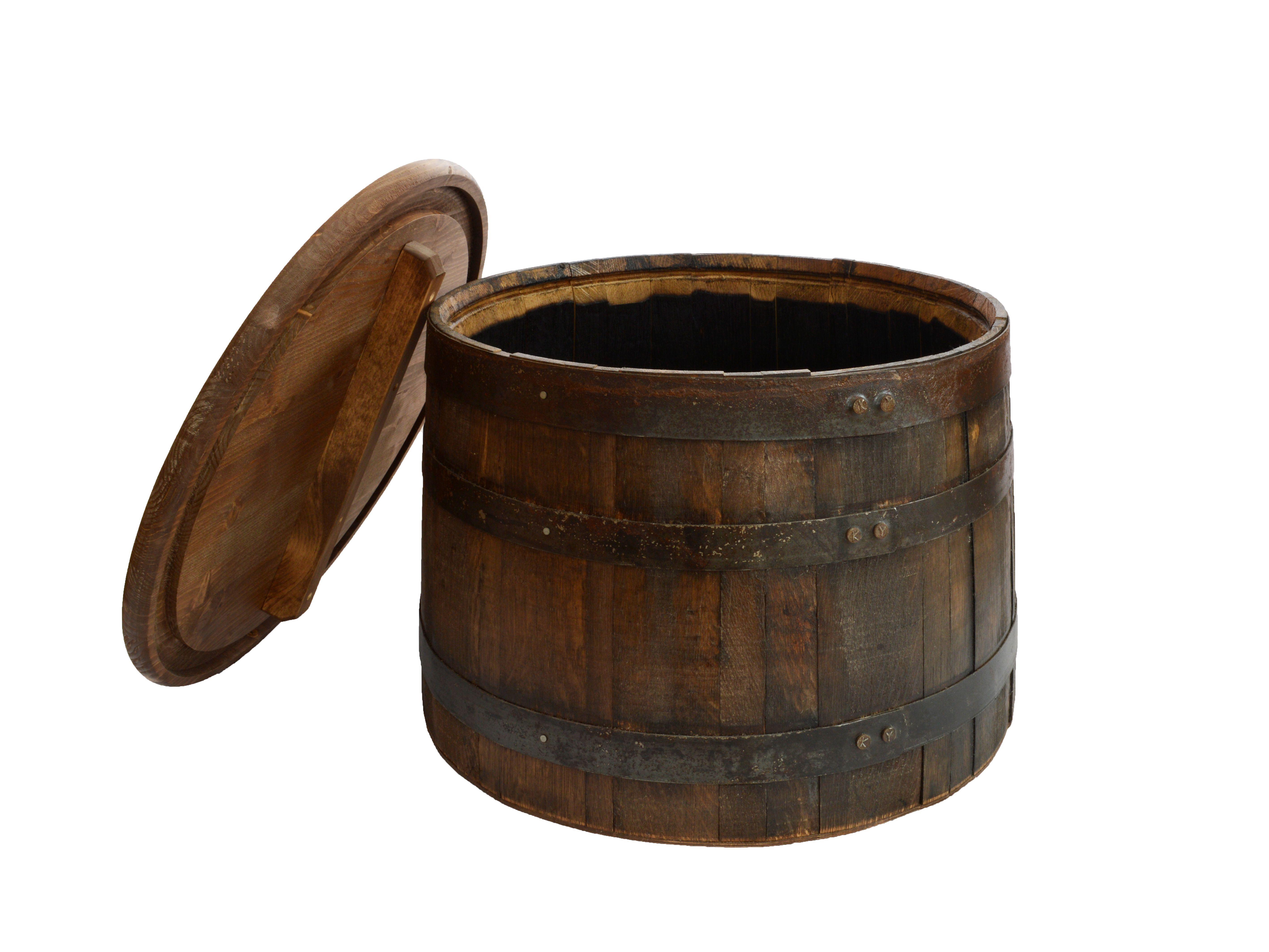 Half Whiskey Barrel Side Table With Lid Barrel Coffee Table Whiskey Barrel Coffee Table Whiskey Barrel Table