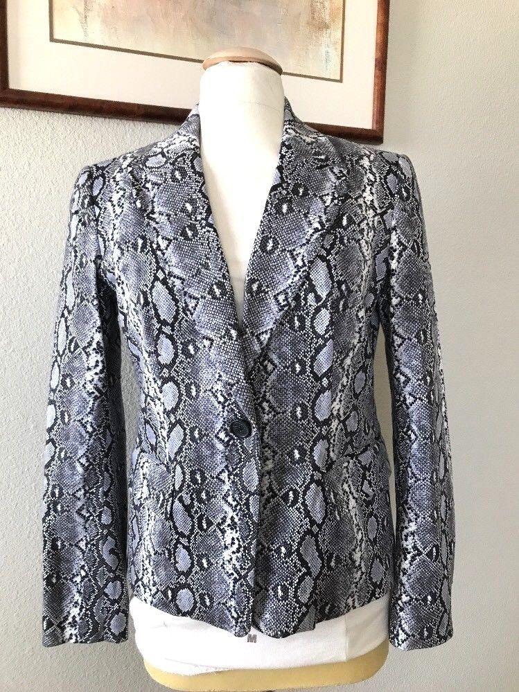 c23727b349f2 Michael Michael Kors Women's Lined Blazer/Jacket Snakeskin Print Size 6 # MichaelKors #BlazerJacket #Any