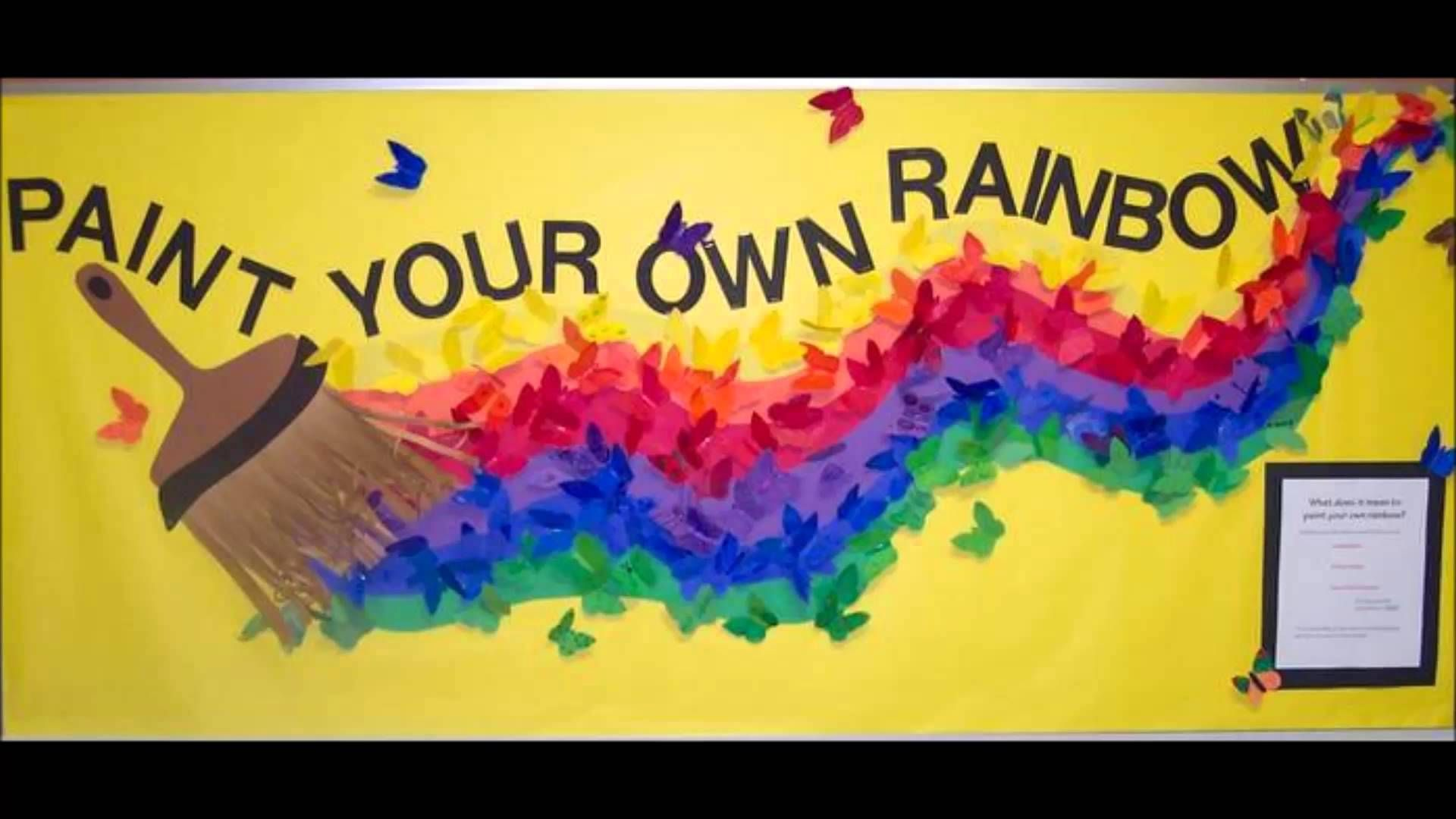 Image Result For Bulletin Board Ideas Inspirational Boards Art Rainbow