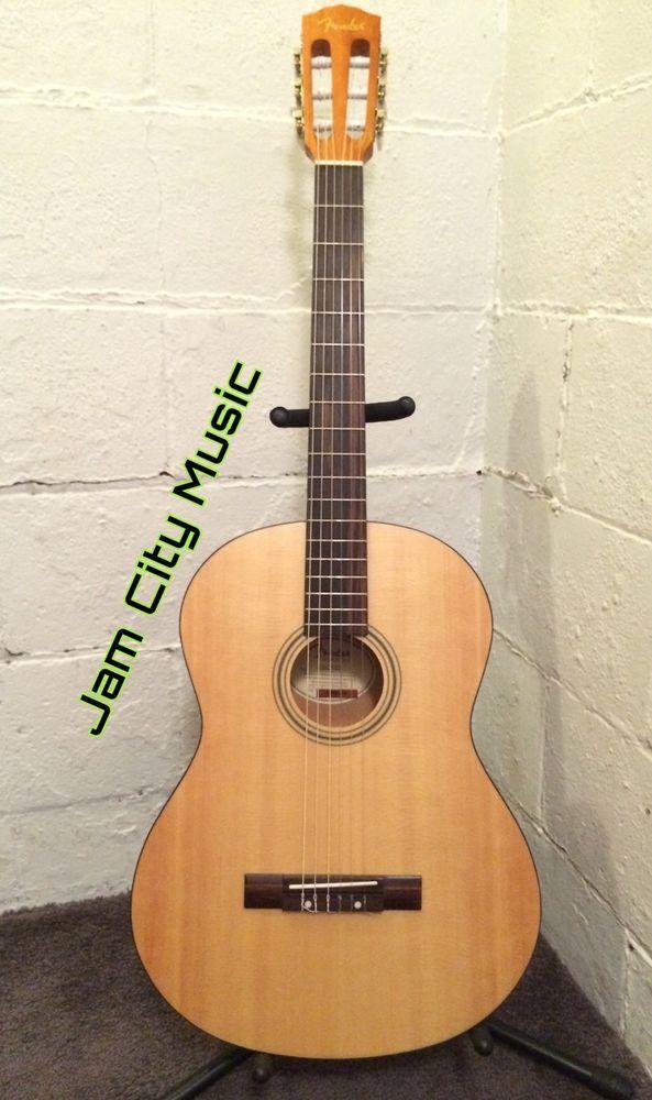 Fender Acoustic ESC105 Full Scale Beginner Travel Nylon String Guitar | eBay