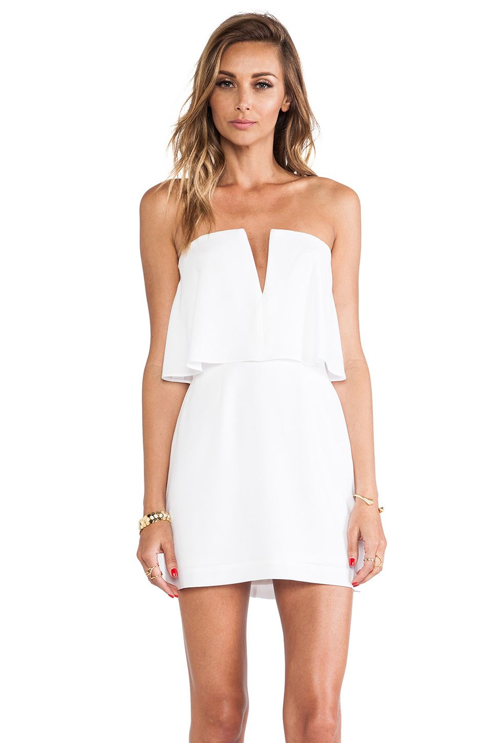 Little White Strapless Dress