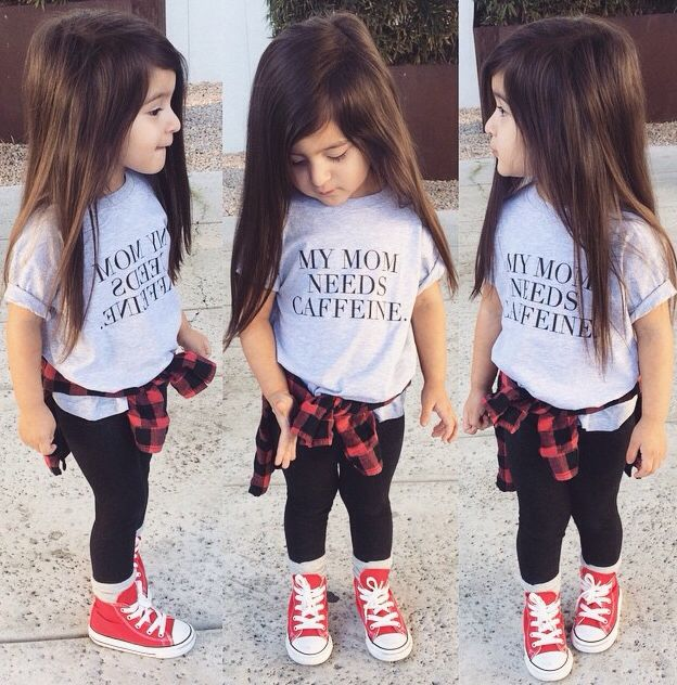 0412da0b4 Baby swag kids clothes t shirt my mom needs caffeine cool kid ...
