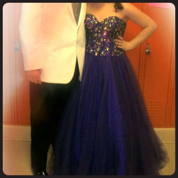 Purple prom dress Purple prom dress has only been worn once! Size 16. Corset back. Beading! Will definitely negotiate price!! Dresses Prom