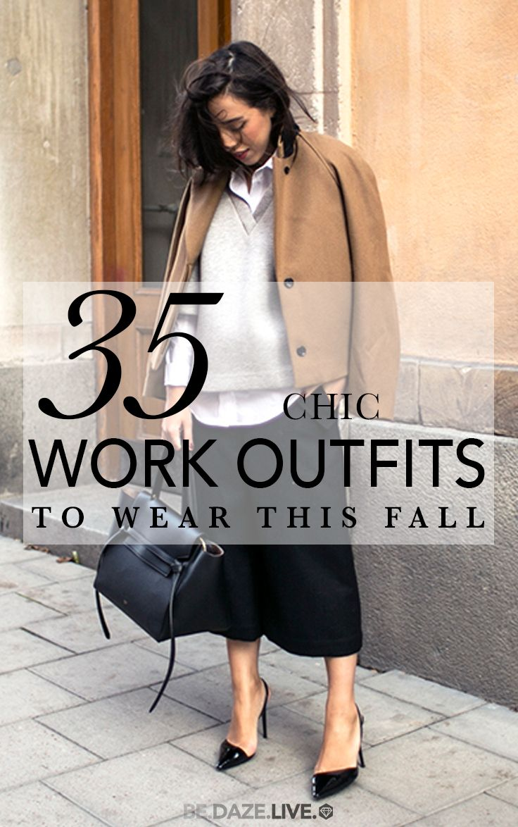 35 Chic Work Outfits To Wear This Fall | Be Daze Live - fall outfits - work outfits - business casual - office wear
