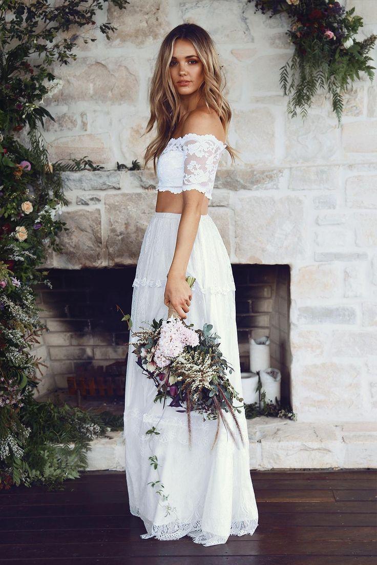 Tendencias vestidos de novia y crop tops másqboda