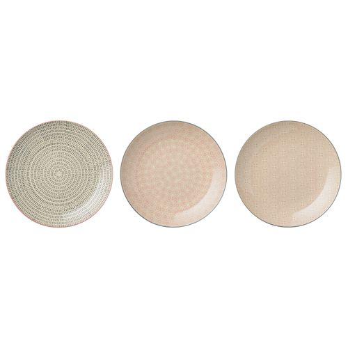 Assiette En Céramique Multicolore (Par 3) Cécile Bloomingville