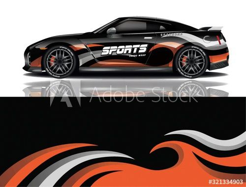 Sports car wrapping decal design , #Aff, #car, #Sports, #wrapping, #design, #decal #Ad